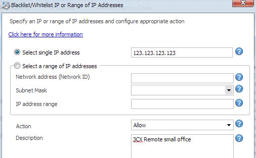 Create Allow IP3CX Phone System Whitelist