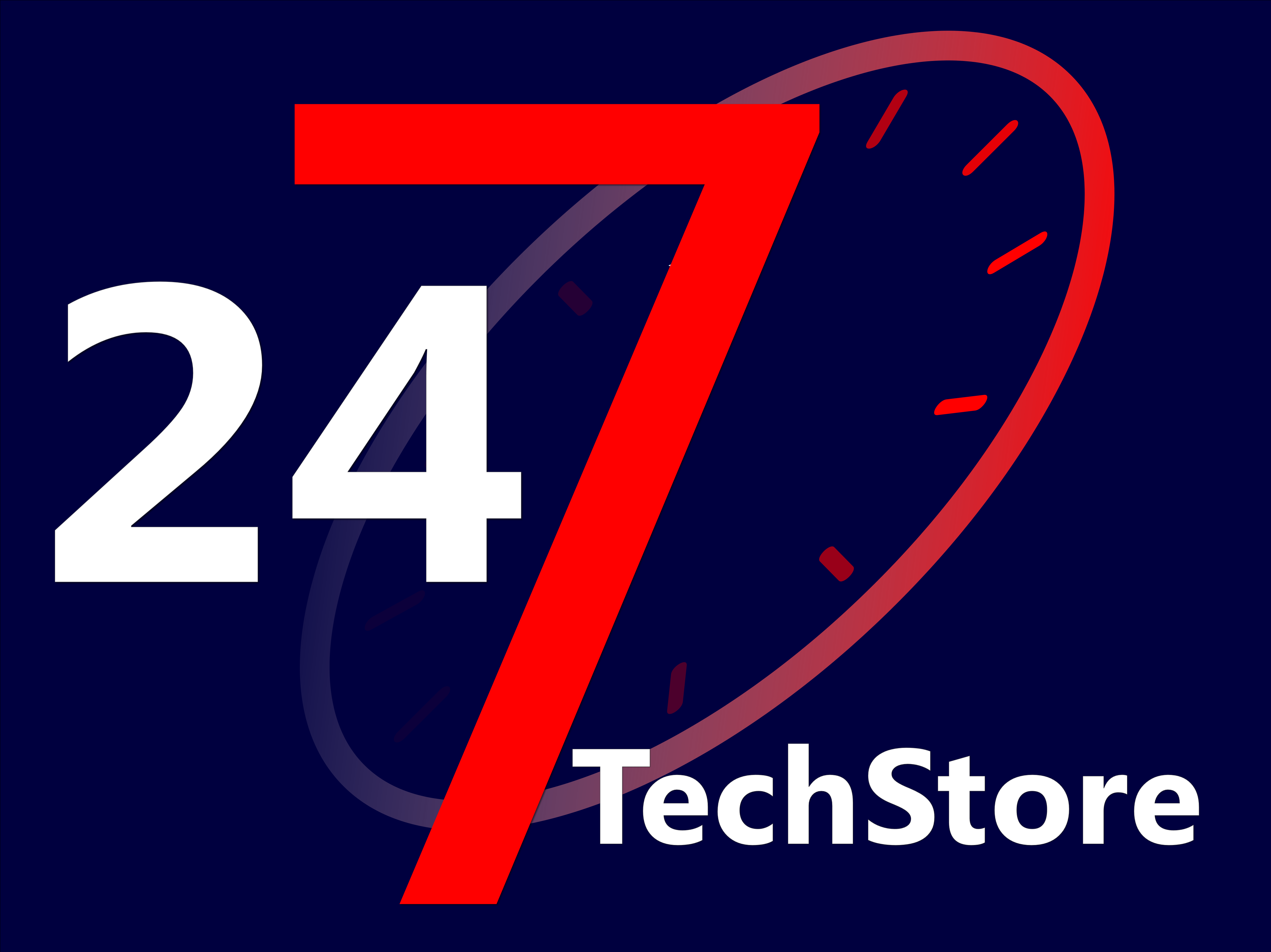 Logo247techstore blue background
