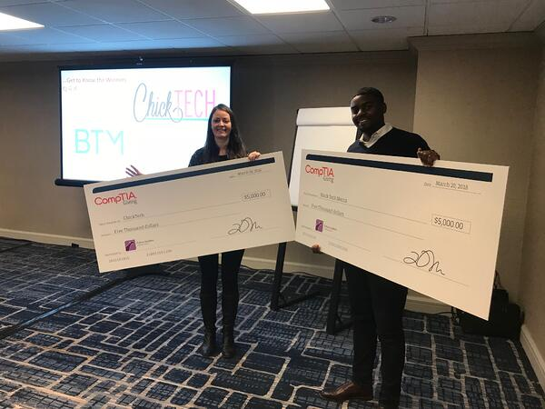 comptia charity winners