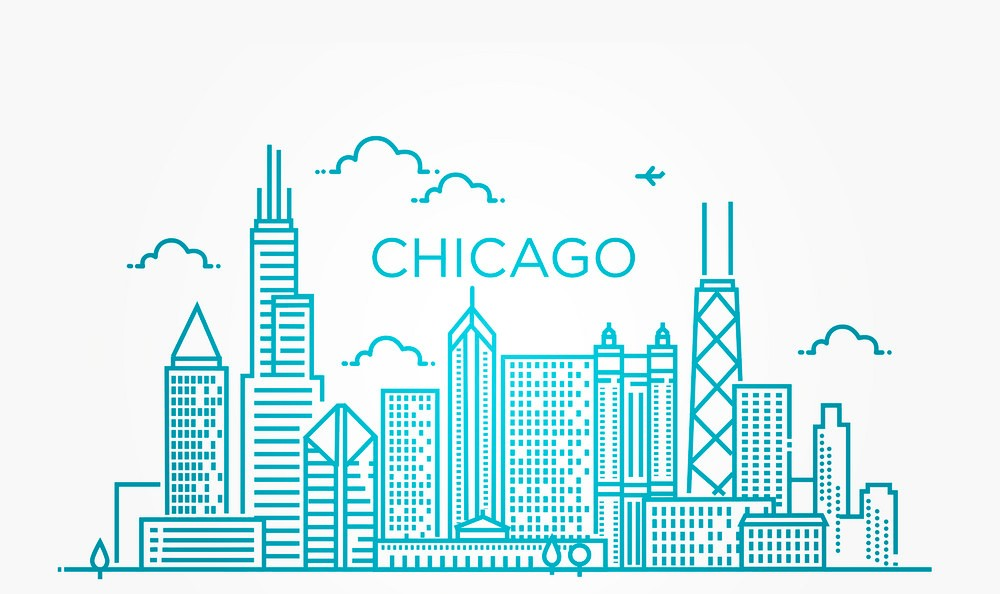 linear-banner-of-chicago-city-vector-21175117